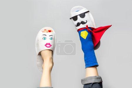 Photo for Superhero creative idea with legs - Royalty Free Image