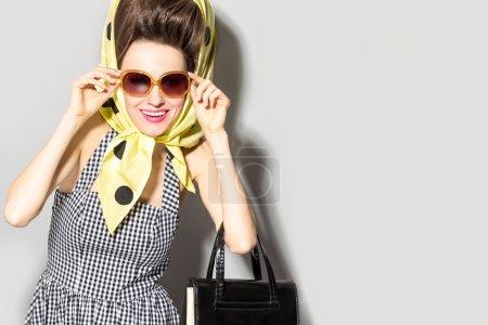 Glamorous shopping lady
