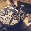 Old Watchmaker Studio. A watch makers work top. Th...