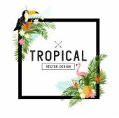 Tropical Border Vector