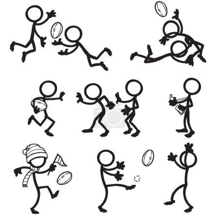 stick figure Australian rules football