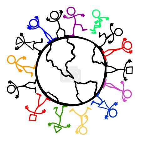 Set of stick figures, cultural diversity