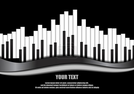 Illustration pour Vecteur : Piano égaliseur sur fond noir - image libre de droit
