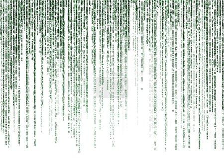 Matrix-Code auf weißem Hintergrund