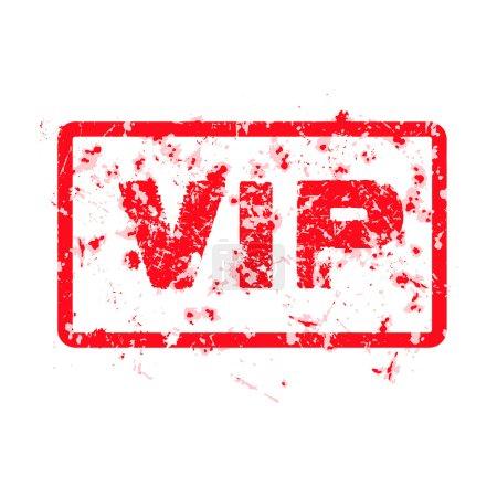 Word VIP red grunge stamp