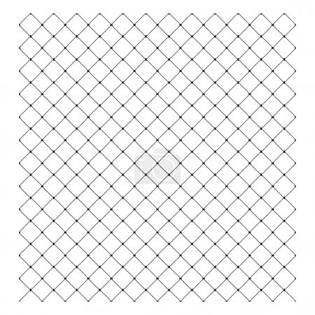 Illustration for Illustration vector of Steel Wire Mesh Seamless Background - Royalty Free Image