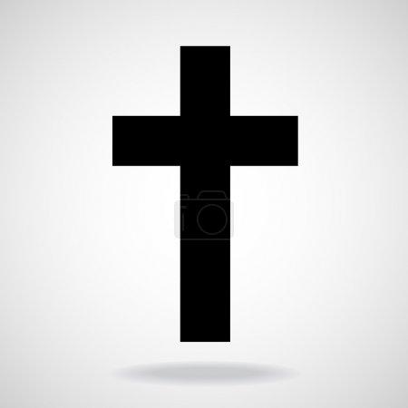Illustration for Cross. Christian Symbol. Vector illustration. Eps 10 - Royalty Free Image