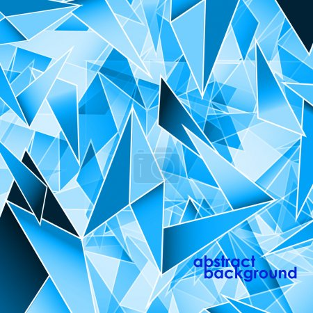 Abstract background, polygonal shapes. Vector illustration. Eps 10