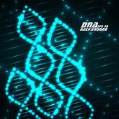 Neon DNS-spirál. Absztrakt háttér. Vektoros illusztráció. Eps10