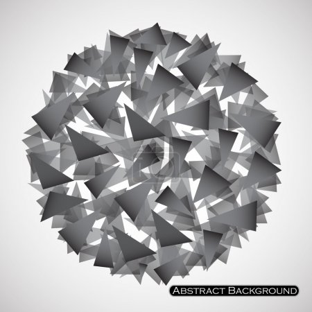 Illustration for Abstract polygonal sphere with triangles. Vector illustration. Eps 10 - Royalty Free Image