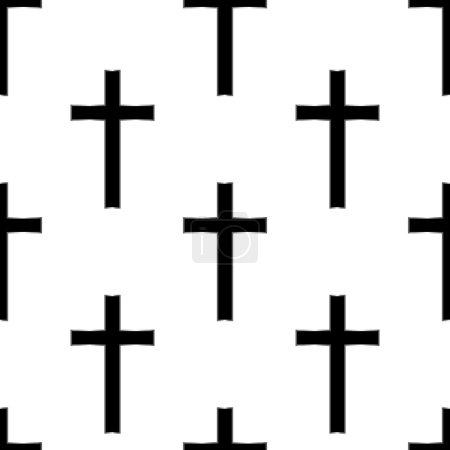 Religious cross seamless pattern. Vector illustration. Eps 10