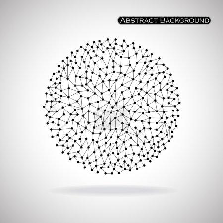 Illustration pour Forme sphérique abstraite. Des points. Isolé sur fond blanc. Illustration vectorielle. Eps 10 - image libre de droit