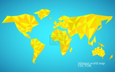 World map background in polygonal style. Colorful vector illustration. Eps 10