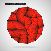 Colorful abstract polygonal sphere with triangles Vector illustration Eps 10