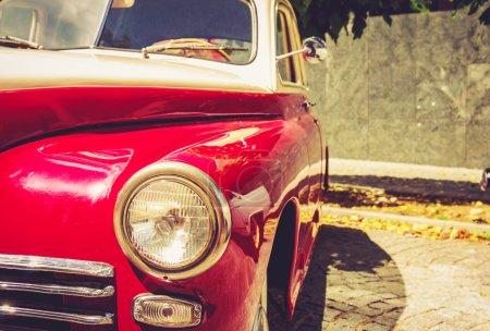 Vintage red retro automobile