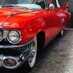 Antique vintage retro red automobile american car ...
