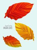 Origami na podzim červené listy