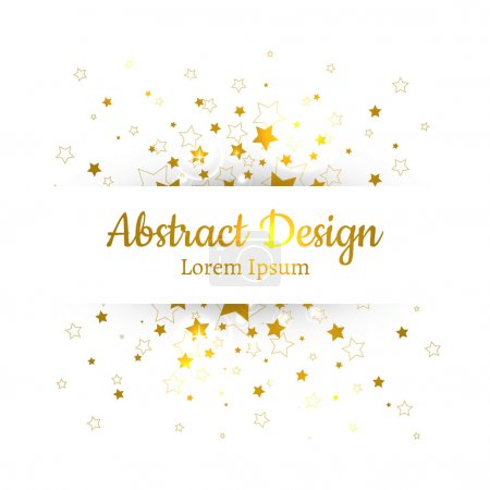 Illustration for Background with gold stars,vector - Royalty Free Image