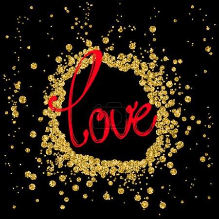 Illustration pour Bannière de mot «love», vector - image libre de droit