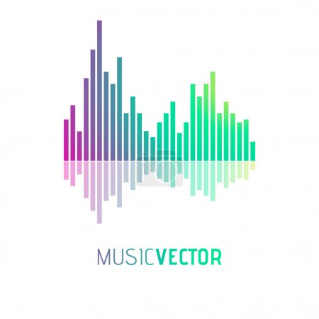 Equalizer Icon. Music vector illustration...