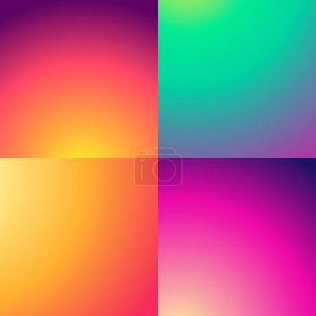 Illustration for Abstract gradient backgrounds set - Royalty Free Image