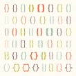 Set of braces or curly brackets icon. Vector illus...
