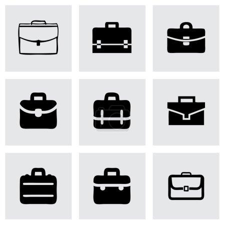 Vector briefcase icon set