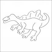 Image of a spinosaurus to color