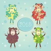 Lustige Neujahrs-Schafe