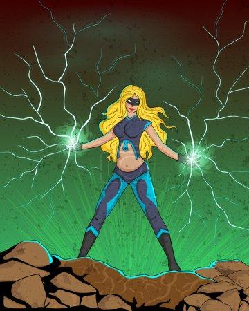 Retro style comics Superwoman