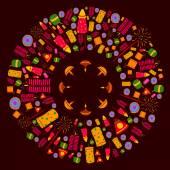 Šťastný Diwali oslava pozadí