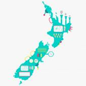 Map of New zealand machine