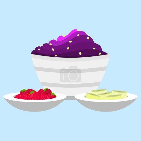 Acai cream with side dish
