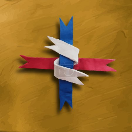 Ribbon interwoven