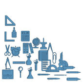 Vector illustration of school supplies It can be used as packaging design and decoration magazine articles
