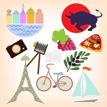 Set of travelling elements