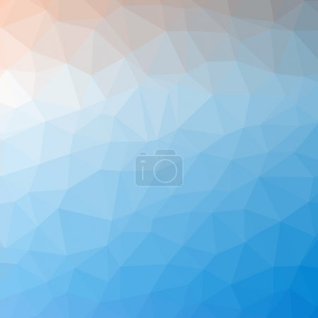 Illustration for Triangle pattern background. Colorful banner - Royalty Free Image