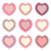 set of heart shaped frames