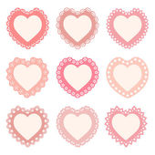 Set of 9 heart frames with an ornamental border (seamless borders are included in the file)
