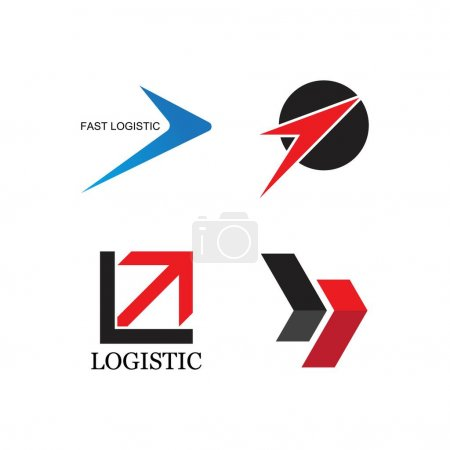 Illustration pour Logo logistique modèle express icône illustration design - image libre de droit