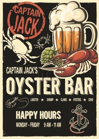 Captain Jacks oyster bar poster