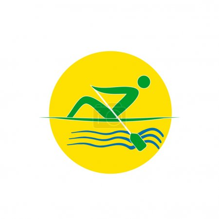 Summer Olympic games logo rowing singles.