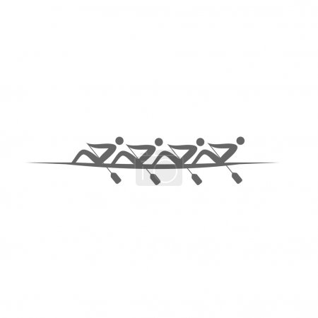 logo Rowing Fours. Vector