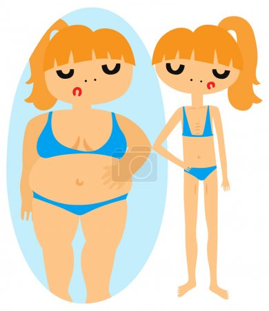 Girl with body image problems
