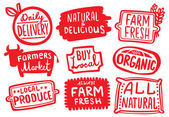 Organic and Natural Farm Produce Stickers
