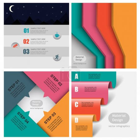 Colored background material design