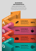 3d curved arrow color part of the data vector infographics