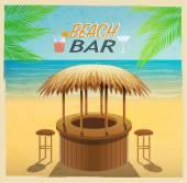beach bar on the coast