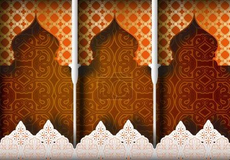 Illustration pour Fond à motifs arabes - image libre de droit