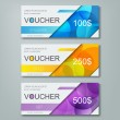 Gift voucher template with different cost, vector ...